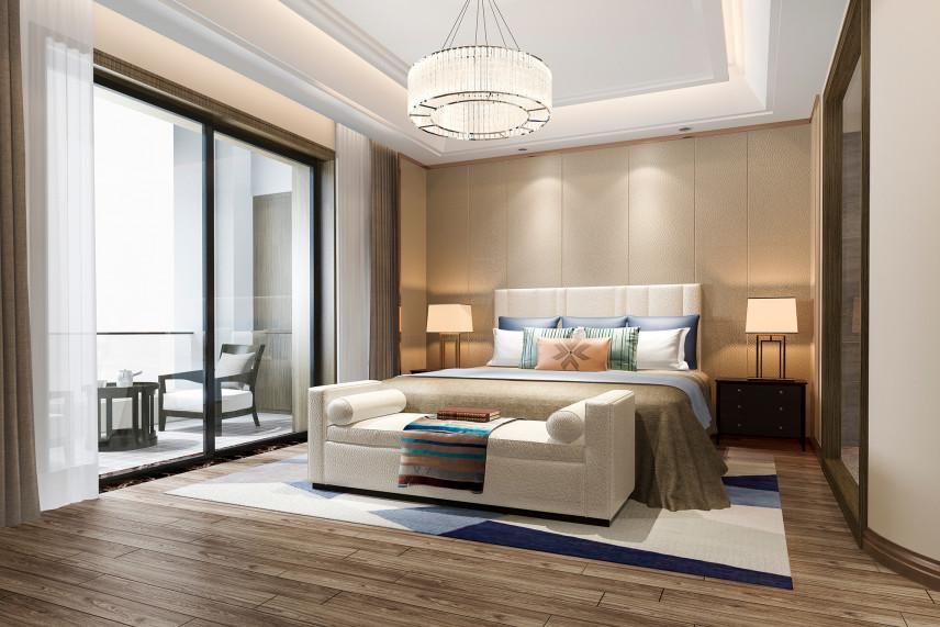 Nowoczesna sypialnia z tarasem