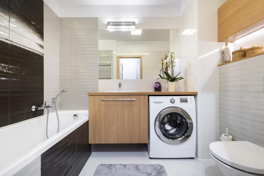 Aranżacja łazienki z pralką