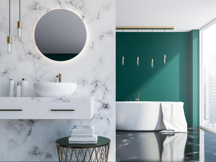 Aranżacja łazienki z gresem na ścianie