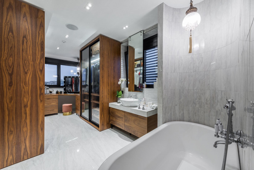 Projekt łazienki z dużym metrażem