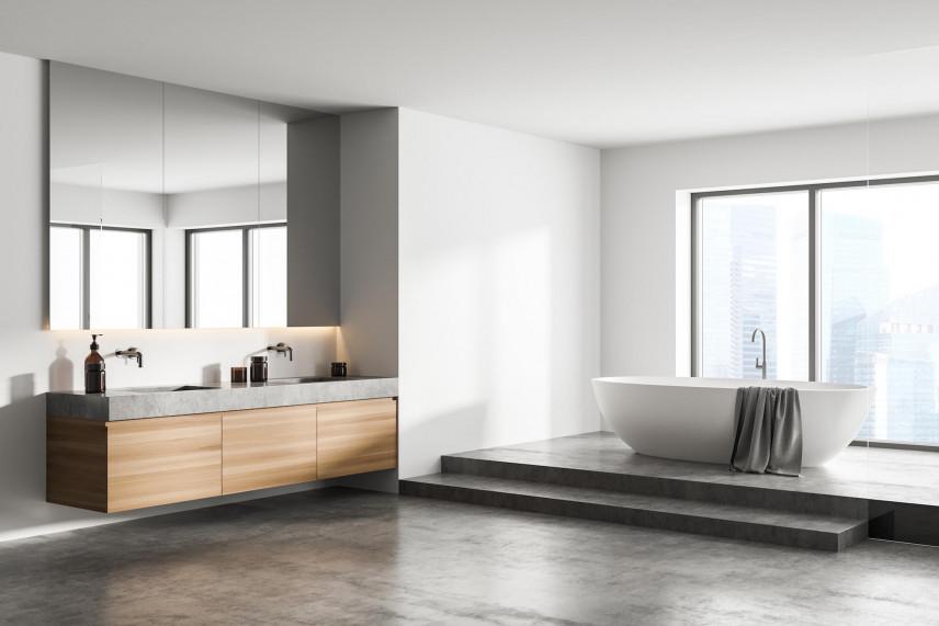 Łazienka z designerską wanną