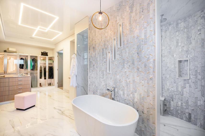 Aranżacja łazienki ze ścianą działową