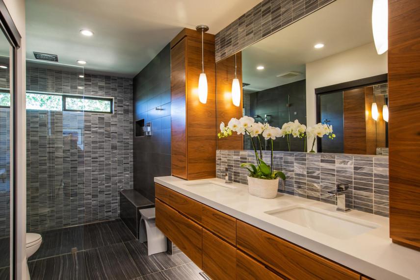 Projekt łazienki z oświetleniem Led