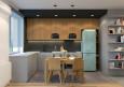 Szaro-drewniane fronty w kuchni