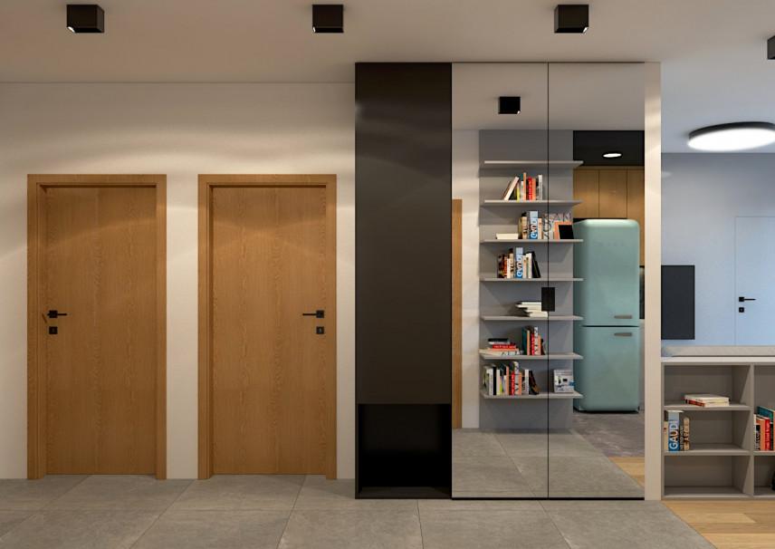 Aranżacja korytarza otwartego w mieszkaniu
