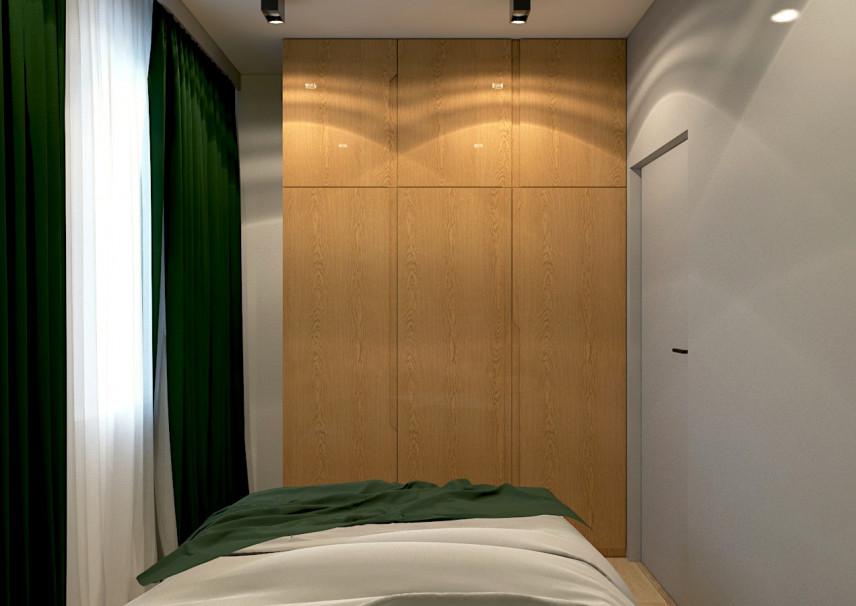 Projekt wąskiej sypialni