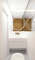 Designerska łazienka w bieli