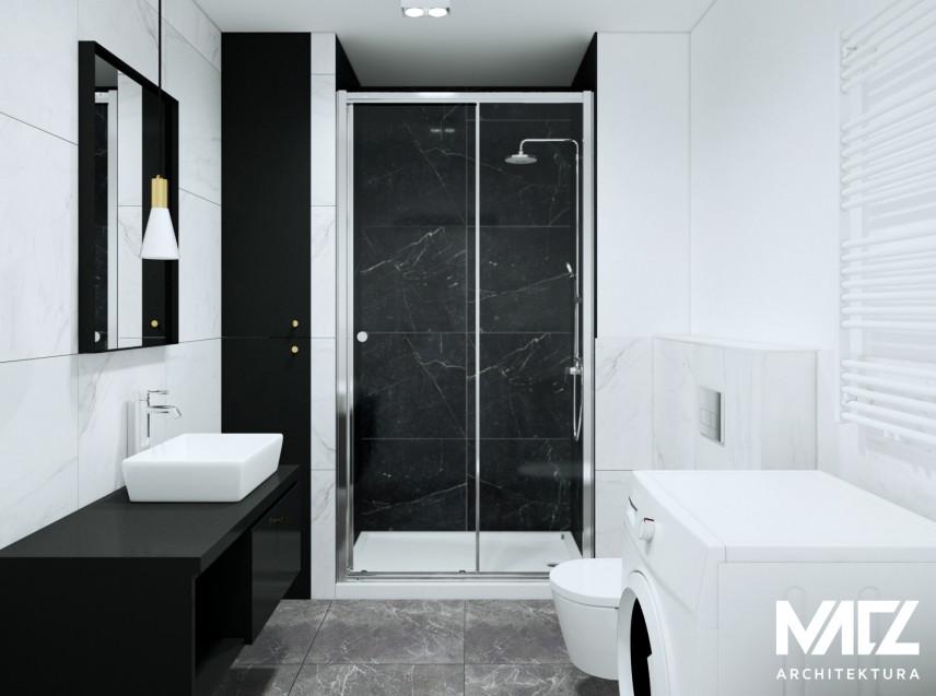 Biało-czarna łazienka