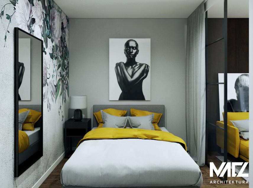 Projekt sypialni z przesuwanymi drzwiami