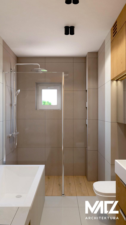Łazienka z małym oknem