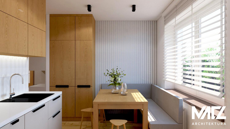 Projekt kuchni z oknem