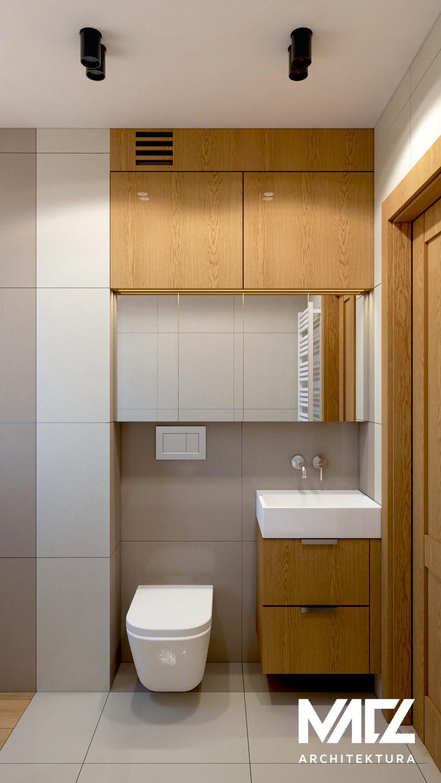 Projekt łazienki z muszlą wiszącą