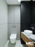 Szaro-czarna łazienka
