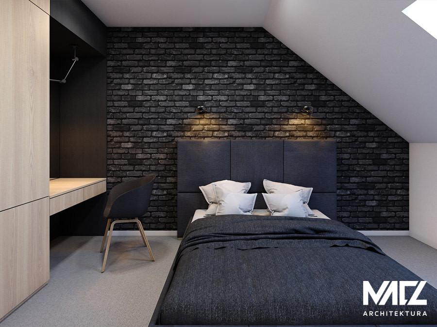 Projekt sypialni ze skosami