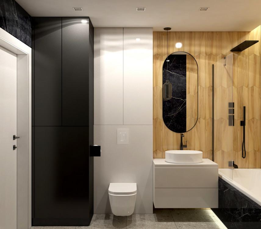 Nowoczesna łazianka z umywalką nablatową