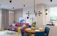 Projekt salonu z nowoczesnym oświetleniem