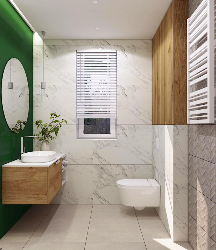 Projekt łazianki z oknem