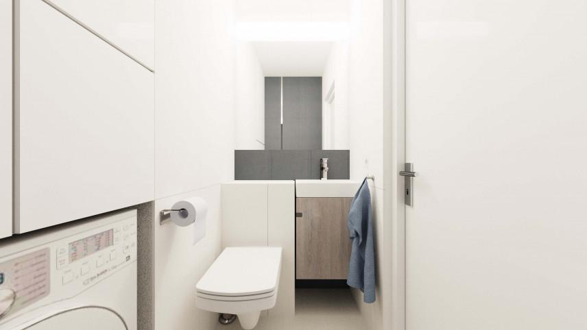 Aranżacja łazienki z jasna podłogą