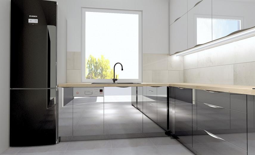 Fronty akrylowe w kuchni