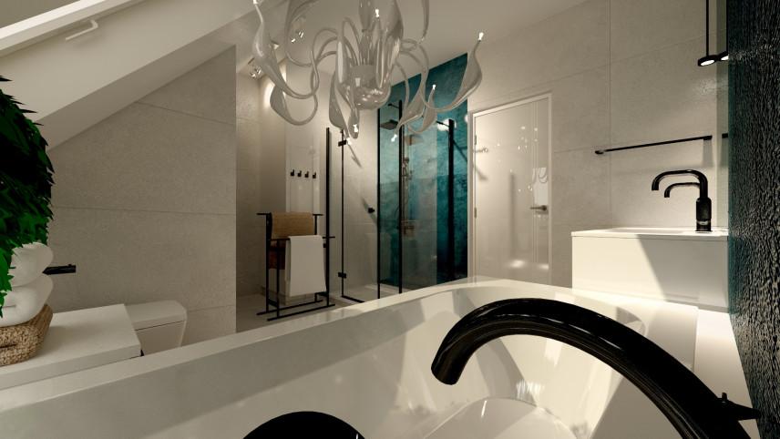 Aranżacja łazienki ze stylowym żyrandolem