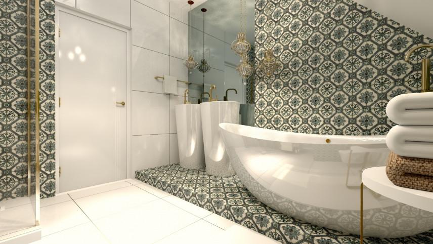 Aranżacja łazienki z wanną owalną