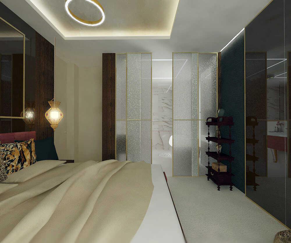 Sypialnia widok w stronę łazienki