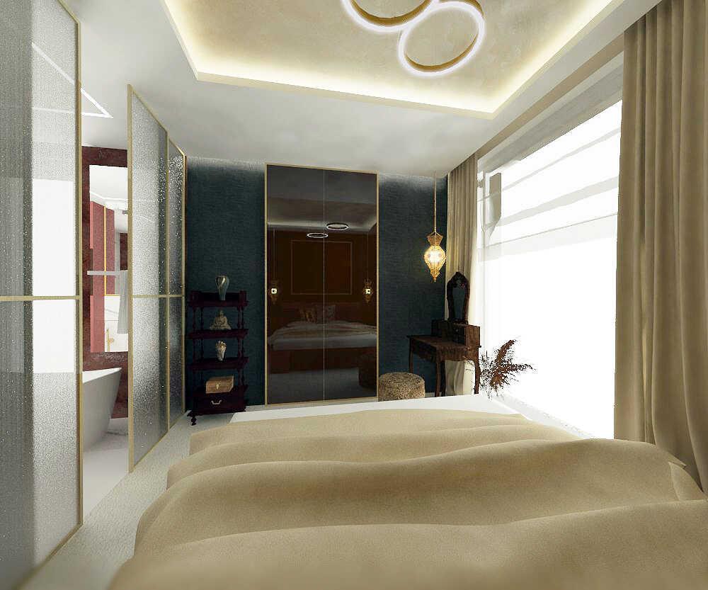 Sypialnia widok w stronę garderoby