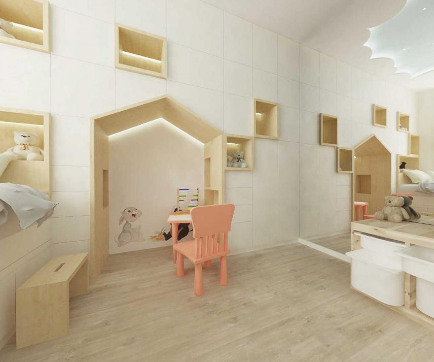Pokój widok w stronę zabudowy i lustra