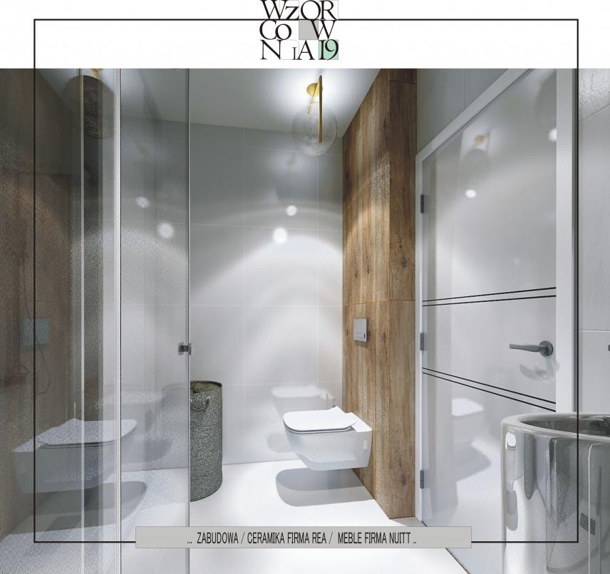 Projekt małej łazienki w zabudowie