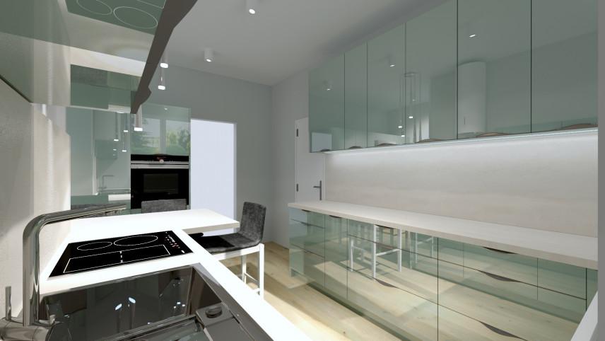 Projekt kuchni z płytką elektryczną