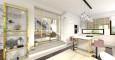 Projekt salonu z przesuwanymi drzwiami