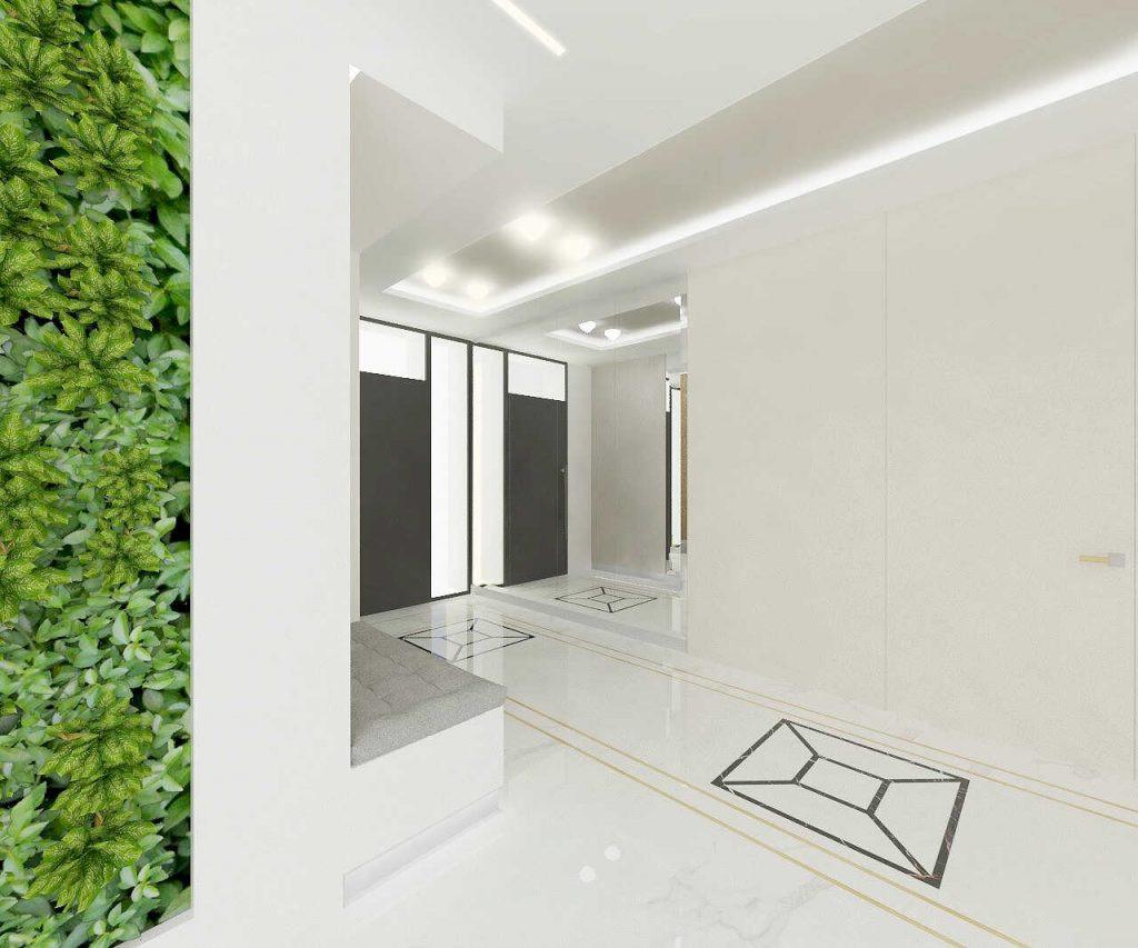 Biały, przestrzenny korytarz