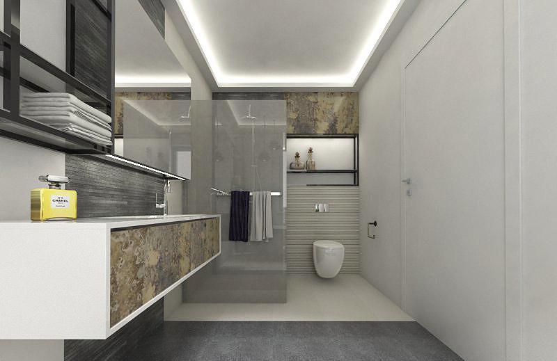 Projekt łazienki w kolorach ziemi