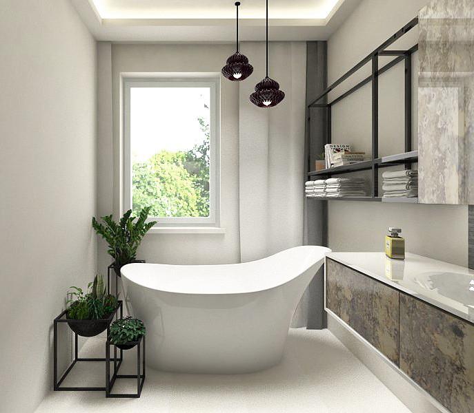Projekt łazienki z oknem