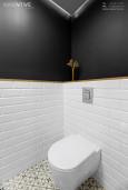 Antracytowo - biała łazienka