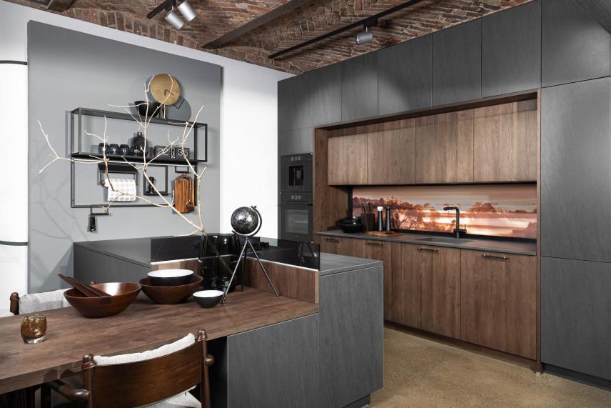 Projekt kuchni w stylu loft