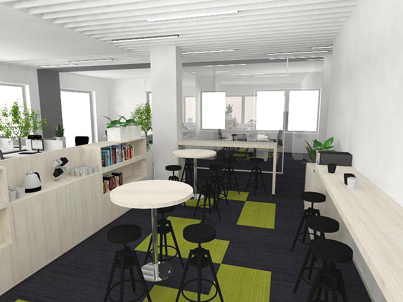Projekt kącika kawowego w biurze