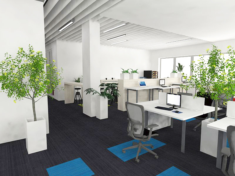 Stylowe, nowoczesne biuro