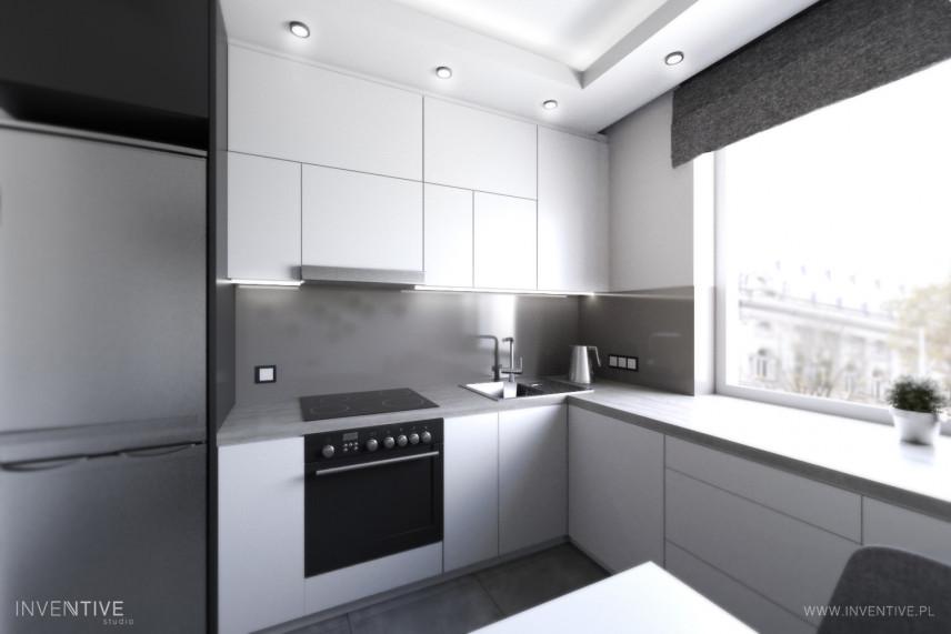 Nowoczesna kuchnia w kolorze czarno-białym