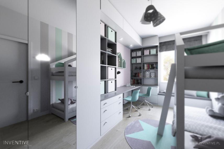 Pokój dziecięcy w szaro-miętowych kolorach