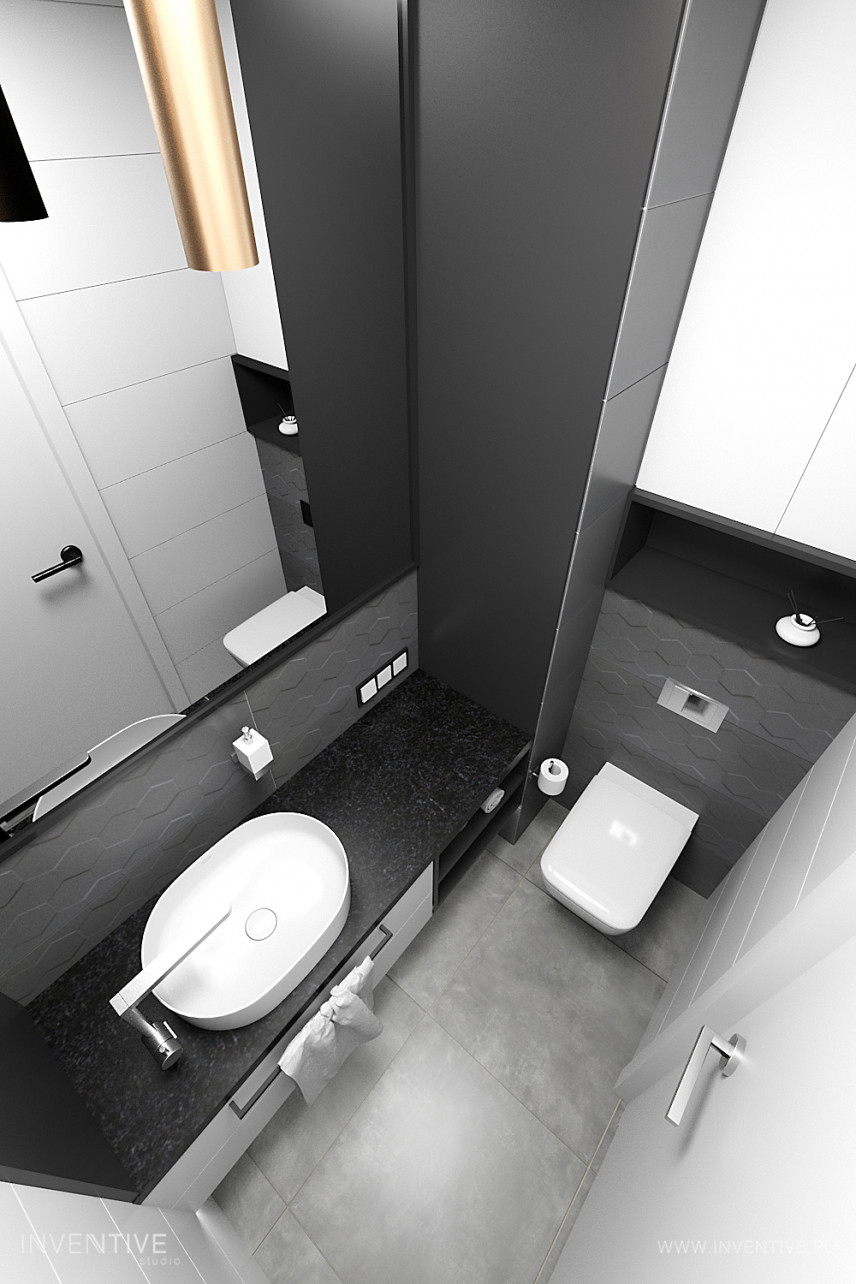 Mała łazienka black&white