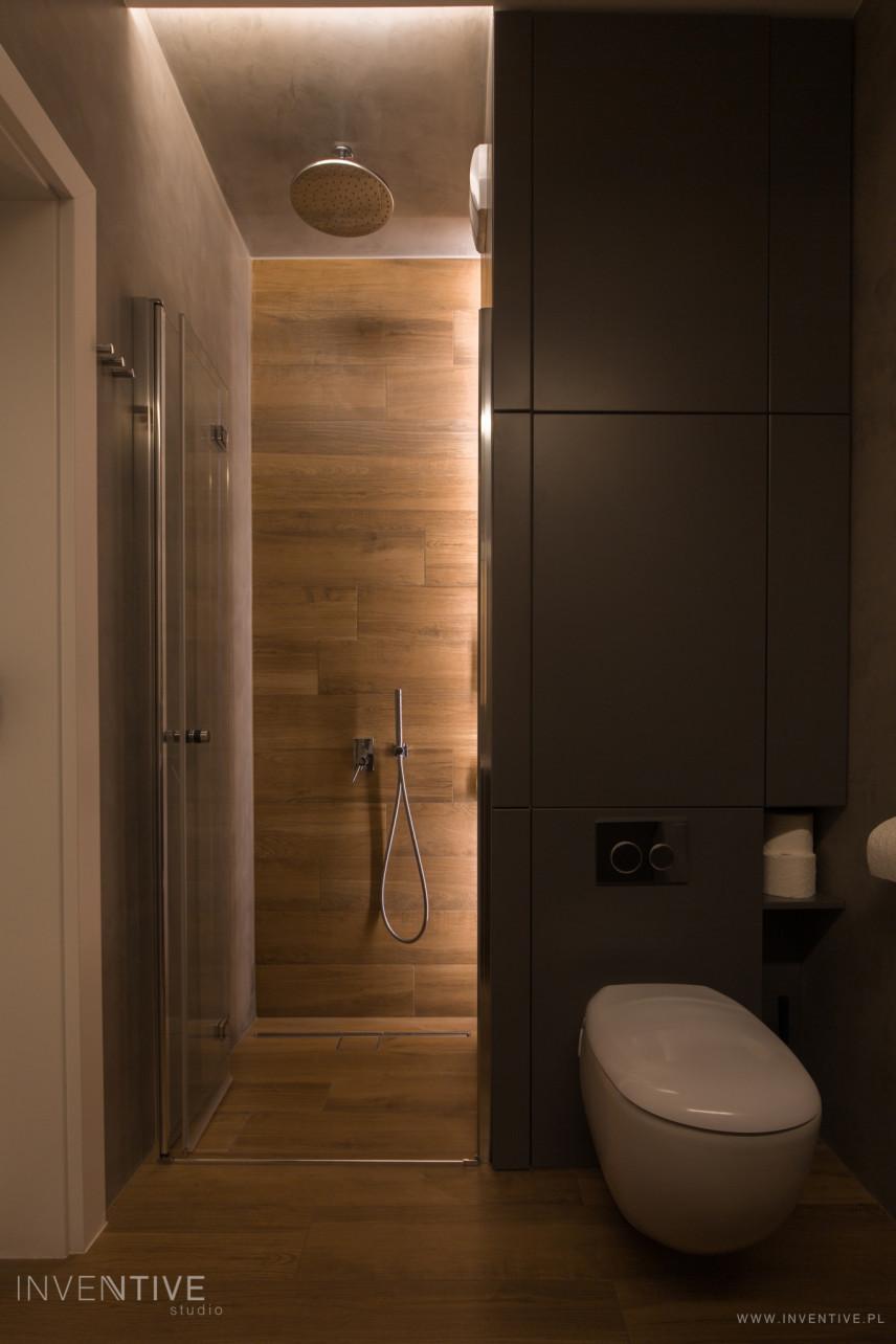 Projekt łazienki z prysznicem