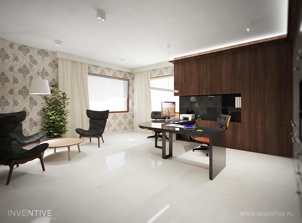 Gabinet ze stylowymi fotelami