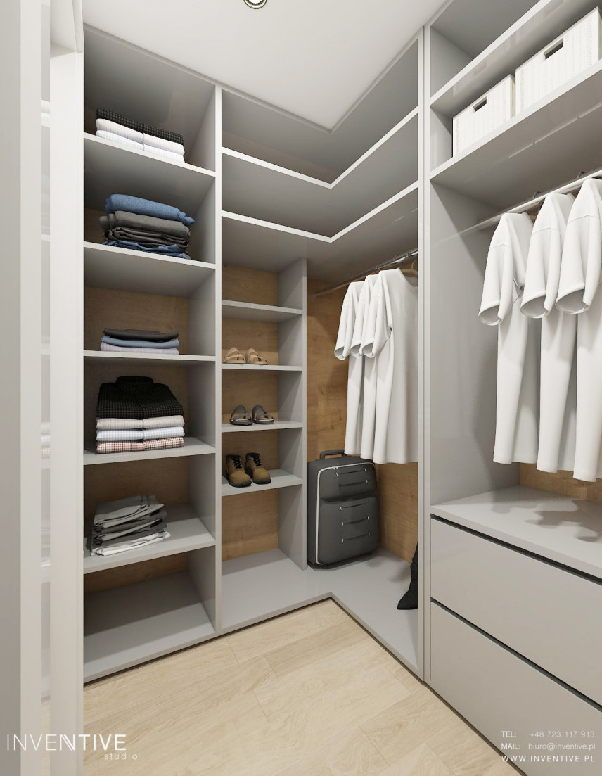 Duża garderoba w mieszkaniu