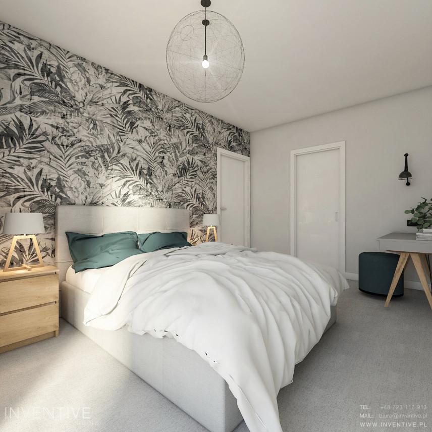 Sypialnia ze stylowymi lampami