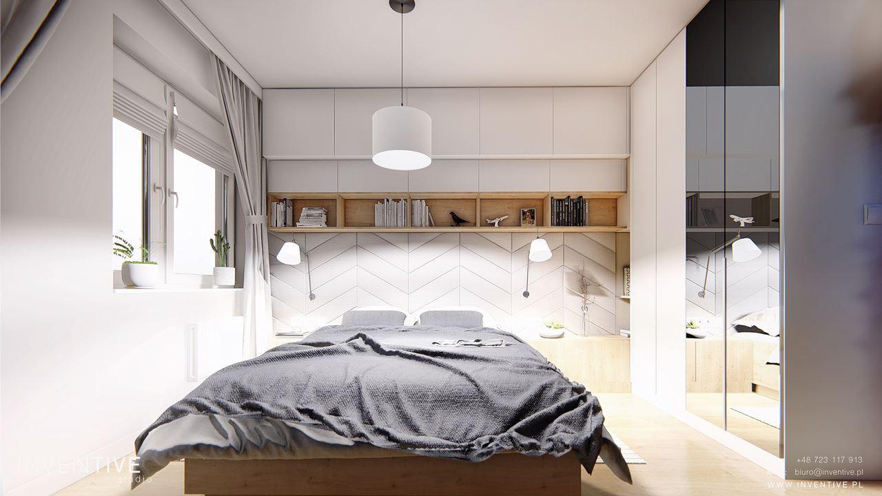 Designerska sypialnia w stylu skandynawskim