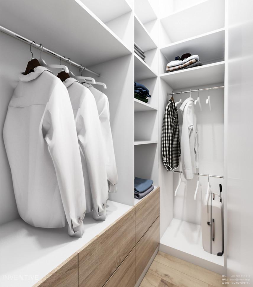 Biało-drewniana garderoba