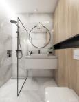 Aranżacja łazienki z prysznicem typu walk - in