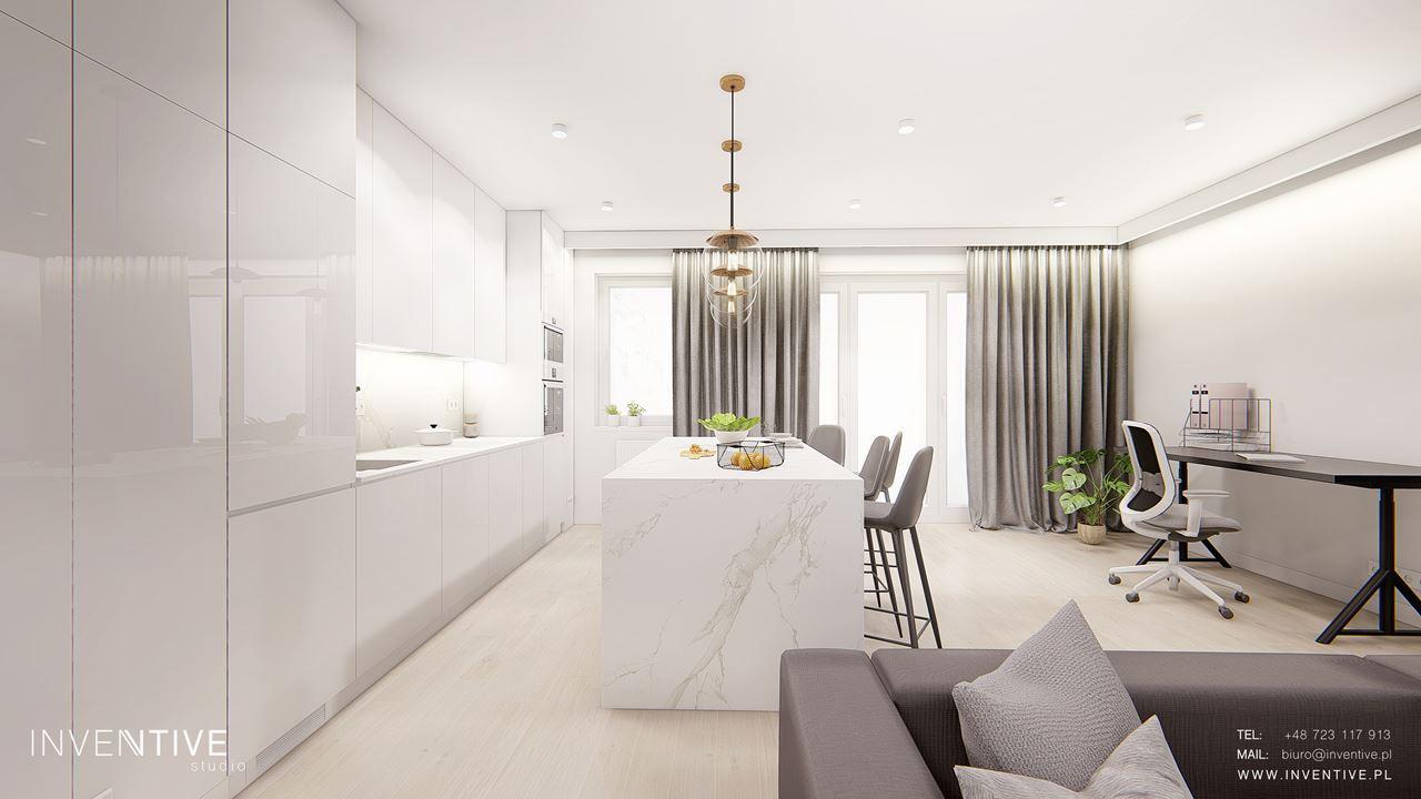 Projekt mieszkania w stylu galmour