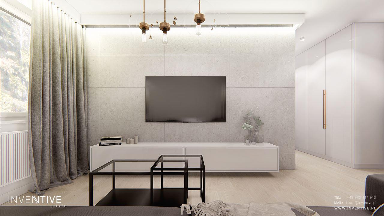 Salon z designerskim stolikiem kawowym